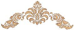americana decor stencil | Baroque Stencil