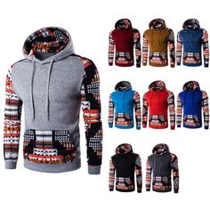 Men's Aztec Pattern Hoodies - Hoodies - eDealRetail - 1