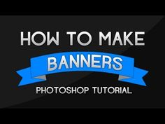 Photoshop Tutorial - How to make Banners and Ribbons - YouTube