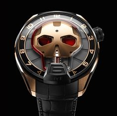"HYT Skull Watch - see Ariel's writeup over at Departures Magazine: ""For 2015 Geneva-based high-end watch maker HYT presents their third timepiece, the HYT Skull. HYT's CEO Vincent Perriard has been a strong advocate for watches focusing on being more contemporary versus classic in their inspiration..."" then see more about it in our release writeup, as well as more Watches With Skulls (yes, we have a whole section) here: http://www.ablogtowatch.com/tag/watches-with-skulls/"