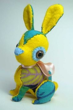 hand stitched bunny toy