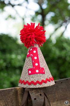 Custom Sock Monkey Birthday Hat by ThreadTrekker on Etsy, $13.00