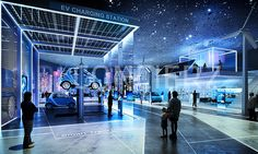 Client : Sigongtech Visual : D*Concierz Competition Winner Museum Exhibition Design, Exhibition Display, Exhibition Space, Design Museum, Stage Set Design, Event Design, Futuristic Design, Screen Design, Design Thinking