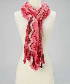 Take a look at this Pink Zigzag Scarf by Highness NYC on #zulily today!