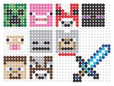 Minecraft Perler bead patterns