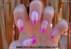 Resultado de imagen para uñas moradas decoradas paso a paso