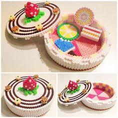 Box perler beads perler,hama,square pegboard,cute,kawaii,
