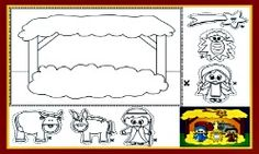 CHRISTMAS COLORING PAGE: Nativity Coloring Page and Christmas Song for Kids!