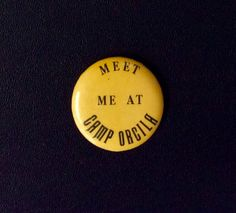 "Y.M.C.A. Camp Orcila pin from 1920's or 30's. (based on camp name history).  Pin is ~2"" diameter. Orcila spelled with a ""c"", Camp changed to Orkila with a ""k"" in later 30's.  Situated on the NW side of Orcas Island in the San Juan Islands. Today the Seattle YMCA's Camp Orkila serves hundreds of campers with Overnight Camps all summer, Outdoor Education programs for Schools and Weekends for families in the spring & fall."