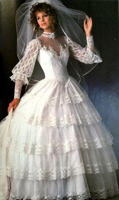 Wedding Dresses Sparkly - pin on vintage weddings 1980s Wedding Dress, Ugly Wedding Dress, Wedding Attire, Wedding Gowns, 1980s Dresses, Vintage Dresses, Wedding Dress Accessories, Bride Gowns, Vintage Bridal