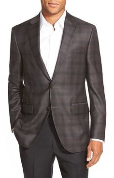 $595, Peter Millar Classic Fit Plaid Wool Sport Coat. Sold by Nordstrom. Click for more info: https://lookastic.com/men/shop_items/364567/redirect