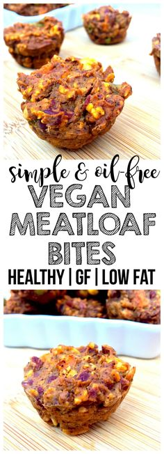 Vegan Meatloaf Bites These healthy Vegan Meatloaf Bites are the perfect appetizer game day recipe or Super Bowl snack! They are also gluten-free oil-free low-fat and low-calorie. Source by anniemarkowitz Healthy Superbowl Snacks, Healthy Vegan Snacks, Vegan Appetizers, Vegan Foods, Healthy Recipes, Low Fat Vegetarian Recipes, Low Fat Snacks, Healthy Oils, Easy Recipes