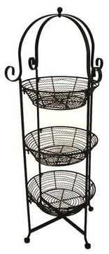 Good Round 3 Tier Black Zig Wire Display Storage Stand Traditional Food  Containers And Storage