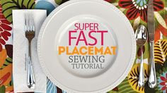 Super Fast Placemat