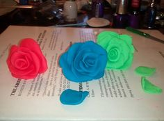 I made play-doh roses.