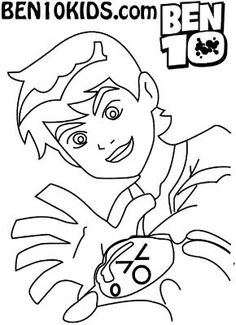 Humongousaur mask Ben 10 Ultimate Alien coloring page