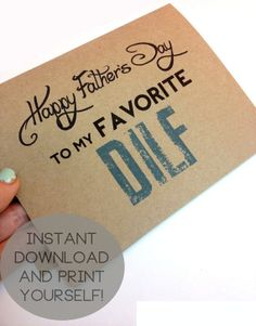 INSTANT DOWNLOAD Happy Fathers Day to my favorite by KYCUpress, $1.40 diy