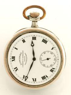 fca3fcdcc Antique Swiss Art Nouvea Longines 18K Rose Gold & Silver Niello  'Waterlilies Flower' Pocket Watch ,15 Jewels,S 10,Sev'd + Run