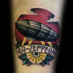 60 Led Zeppelin Tattoos For Men - English Rock Band Ink Ideas Tattoo Band, Rock Tattoo, Metal Tattoo, Tatuaje Led Zeppelin, Led Zeppelin Tattoo, Couple Tattoos, Tattoos For Guys, Tattoos For Women, Guy Tattoos
