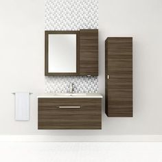 Cutler Kitchen & Bath - Textures Collection Wall Hung 36 Inch Driftwood - FV DW36 - Home Depot Canada