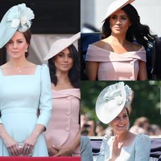 Catherine, Duchess of Cambridge in Alexander McQueen and Meghan, Duchess of Sussex in Carolina Herrera Harry And Meghan News, Kate And Meghan, Prince Harry And Megan, Prince William And Catherine, Duchess Kate, Duke And Duchess, Duchess Of Cambridge, Two Princess, Princess Meghan