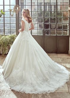 Featured Dress: Nicole Spose; Wedding dress idea.