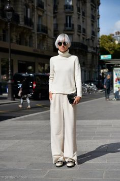 How to Wear Wide Leg Pants in Winter Like a Fashion Blogger | StyleCaster