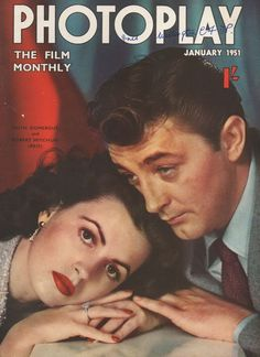 Robert Mitchum and Ann Blyth on the cover of Movie Pictorial magazine, January 1953. Description from pinterest.com. I searched for this on bing.com/images