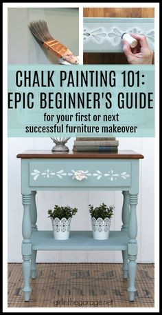 How to Chalk Paint Furniture - Simple DIY chalk painting guide for beginners - DIY furniture makeover ideas by Girl in the Garage Diy Old Furniture Makeover, Diy Furniture, Furniture Design, Dresser Makeovers, Furniture Layout, Furniture Arrangement, Restoring Furniture, Repainting Furniture, Furniture Movers