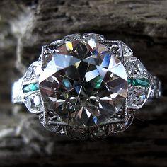 Image of 3.60 Carat Old European-Cut A neat design, I'm liking the big center diamond, love the sparkle