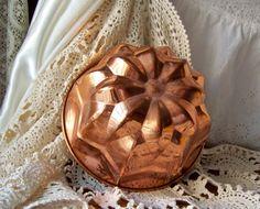 Vintage Copper Kitchen Mold Classic Jello Copper  by cynthiasattic