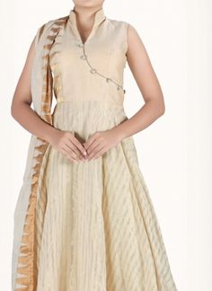 Alluring Art Silk Anarkali Suit