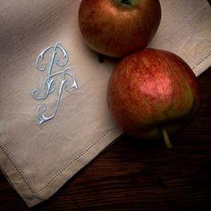 MarinaC - classic embroidered monogram - always beautiful #marinacmilano