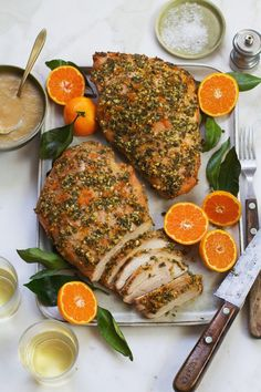 Herb-orange turkey breast with roasted pear gravy recipe from Salt & Wind Roasted Pear, Roasted Turkey, Best Thanksgiving Recipes, Holiday Recipes, Holiday Foods, Garlic Recipes, Curry Recipes, Turkey Dishes, Heart Healthy Recipes