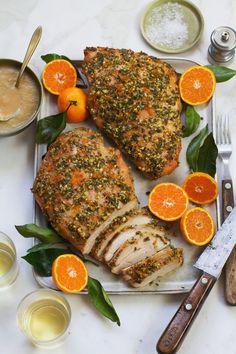 Herb-Orange Turkey Breast with Roasted Pear Gravy    http://saltandwind.com