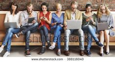 Diversity People Connection Digital Devices Browsing Concept