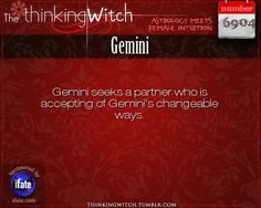 """Gemini 6904: Please click The Thinking Witch for more facts about Gemini.Have you seen the best """"love horoscopes"""" on the web? :)"""