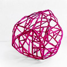 A modern and quirky geometric sculpture. I like the never ending line used with this piece. Geometric Sculpture, Modern Sculpture, Pink Fabric, Installation Art, Sculpting, Hot Pink, Etsy Seller, Things To Come, Minimalist