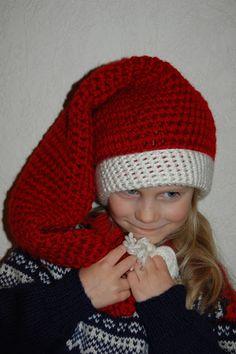 Free Crochet Pattern: Long Stocking Cap Diy Crochet Hat, Crochet Stocking, Crochet Beanie, Crochet Gifts, Crochet Clothes, Free Crochet, Crocheted Hats, Sweater Hat, Bazaar Ideas