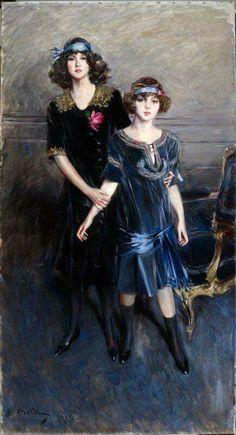 Ritratto di Muriel e Consuelo Vanderbilt di Giovanni Boldini 1913