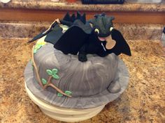 Toothless cake How to Train Your Dragon