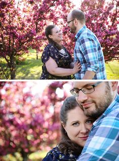 Cherry Blossom engagement shoot. Calgary Engagement Photographers