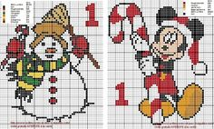 Grilles calendrier de l'Avent Disney Christmas, Christmas And New Year, Stitch Disney, Cross Stitch Numbers, Le Point, Cross Stitching, Bowser, Cross Stitch Patterns, Knit Crochet