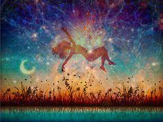 """Starfall (Dreamers #1)""  by artofmarabelle, dreaming, stars, peaceful, universe, night sky, moon, magical, birth, awakening, serenity."