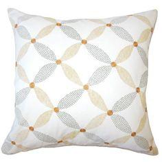 "Brayden Studio Wiest Geometric Down Filled 100% Cotton Throw Pillow Size: 20"" x 20"", Color: Marine"