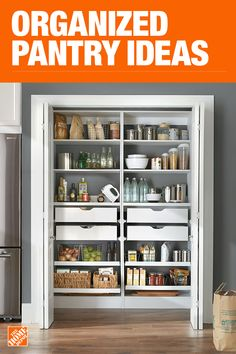 Home depot kitchen pantry the home depot has everything you need for your home improvement projects Kitchen Pantry Design, Kitchen Redo, Interior Design Kitchen, Kitchen Storage, Kitchen Remodel, Kitchen Ideas, Home Depot Kitchen, Home Kitchens, Updated Kitchen