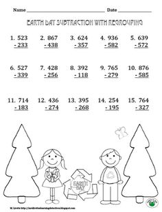 Mrs. Lirette's Learning Detectives: Earth Day Subtraction Practice {Free Printable}