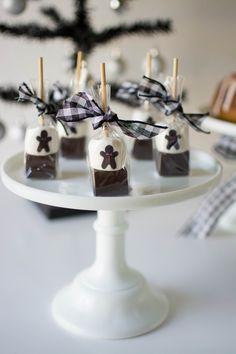 Host a Gingerbread Party - custom hot cocoa sticks!