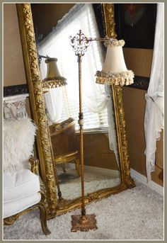 Antique Bridge Floor Lamp-