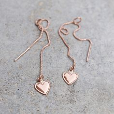 Pink hearts | Billy Rose | Oorbellen piercing / earring